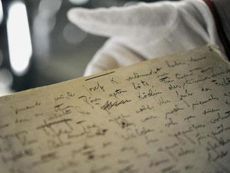 Die erste Seite des Originalmanuskripts des Romans «Der Process» (auch «Der Prozess») von Franz Kafka. Foto: Marijan Murat