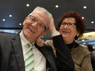 Ministerpräsident Winfried Kretschmann (Grüne) und seine Ehefrau Gerlinde. Foto: Felix Kästle/Archiv