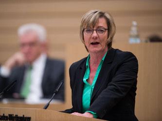 Die baden-württembergische Finanzministerin Edith Sitzmann (Grüne). Foto: Lino Mirgeler/Archiv