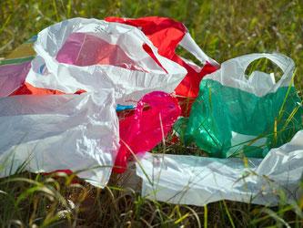 Bereits seit April vergangenen Jahres gibt es eine freiwillige Vereinbarung, nach der Unternehmen Plastiktüten ihren Kunden nicht mehr umsonst mitgeben sollen. Foto: Patrick Pleul