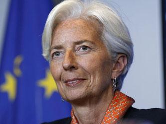 IWF-Chefin Lagarde rechnet noch immer mit einem Zuwachs der globalen Wirtschaftsleistung um mehr als drei Prozent. Foto: Julien Warnand/Archiv