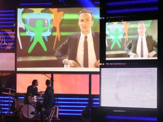 Ausschnitt aus seiner Sendung «Neo Magazin Royale»: Jan Böhmermann hat in seiner Abwesenheit den Grimme-Ehrenpreis erhalten. Foto: Henning Kaiser