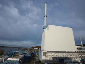 Das Kernkraftwerk Krümmel in Geesthacht bei Hamburg. Foto: Christian Charisius