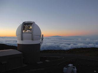 Ein Großteleskop auf Hawaii. Derzeit wird ein riesiges digitales Himmelslexikon erstellt. Foto: Rob Ratkowski