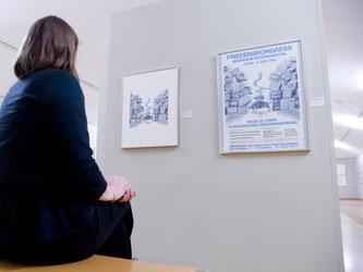 Eine Ausnahmeerscheinung: die Karikaturistin Marie Marcks. Foto: Peter Steffen
