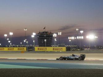 Nico Rosberg fuhr souverän zum Sieg im Flutlicht von Bahrain. Foto: Valdrin Xhemaj