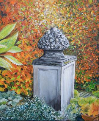 """""""Herbstgarten"""" 50 x 60 cm Acryl auf Leinwand"""