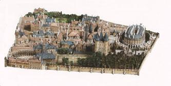 Maquette de l'enclos du Temple de Paris © Musée Carnavalet