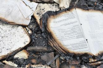 verbrannte Akten