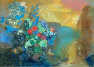Ophélie au milieu des fleurs, Odilon Redon.