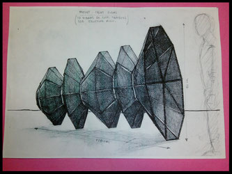 dessin de la structure métallique sur mesure.