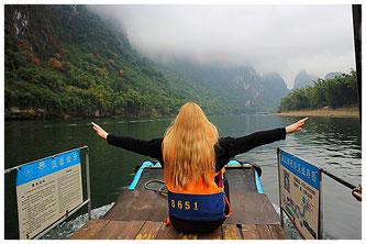 Li-Fluss China Sehenswürdigkeiten Yangshuo Xing Ping Guilin