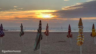 Photo de la plage de Deauville et Trouville en Haute-Normandie