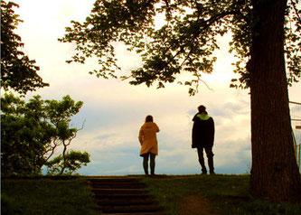 ein Liebespaar auf der Festung Akershus