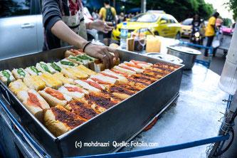 Viele neue Fast Food Trends sind aus dem asiatischen Ausland inspiriert: schnell, frisch und gesund - wie hier in Thailand