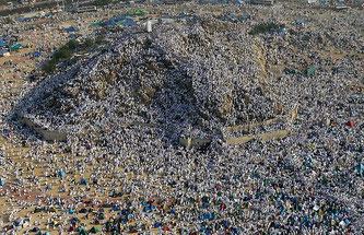 Le Mont Arafa, le Mont de la Miséricorde, près de la Mecque