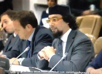 Yahyâ Pallavicini à l' ONU le 27 sept 2012