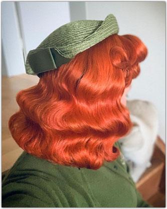 40er Brushout Frisur Haare Vintage