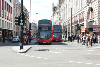 Double-decker Buses on Piccadilly Circus
