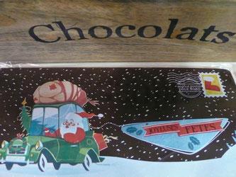 Carte de voeux en chocolat