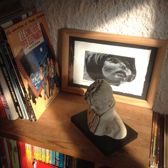 Mireille Mathieu, gravure de Gérard Boisard et Corto Maltese