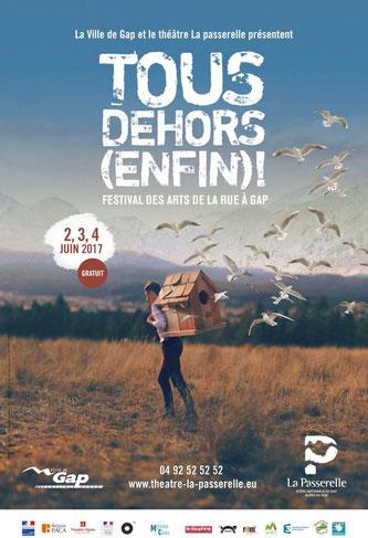 Affiche, Tous Dehors (Enfin)!, Festival, Arts de la rue, Gap