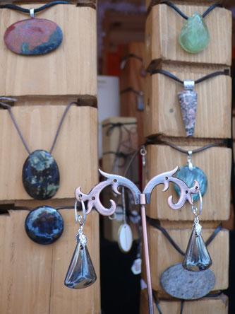 Florence Daluz, bijoux, pierres, Marché de Noël de Gap, Hautes Alpes
