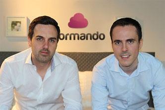 Die Dormando-Gründer Dennis Schmoltzi und Manuel Müller