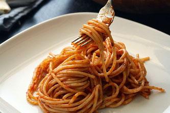 Spaghetti Pasta Gabel Teller