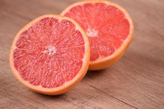 Grapefruit halbiert