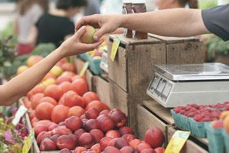Bauernmarkt Verkauf