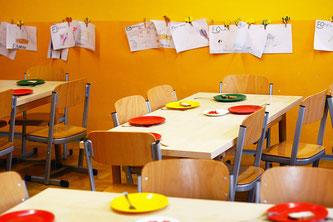 Kindergarten Tische Teller