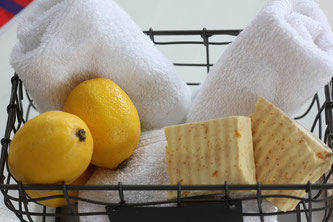 Zitronen Seife Handtücher