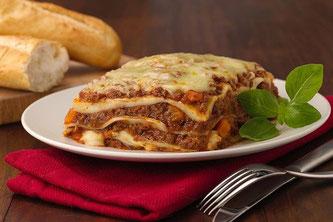 Lasagne Brot Besteck