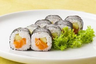 Sushi Teller Salatblatt