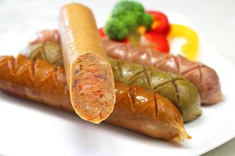 Würstchen vegan Gemüse Teller