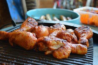 Hühnchen Fleisch Grill
