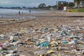 Strand Abfall Plastik