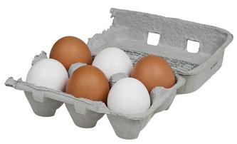Eier in Höcker