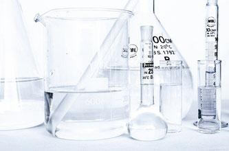 Chemie Labor Glasgefäße