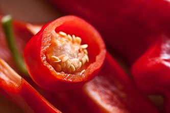 Paprika aufgeschnitten