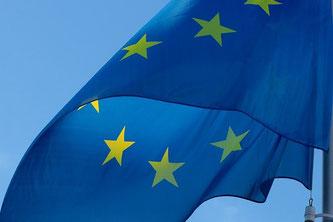 EU Fahne im Wind