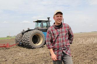 Landwirt, Feld, Traktor