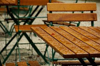 Gastgarten Regen