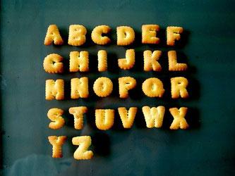 Buchstaben Kekse