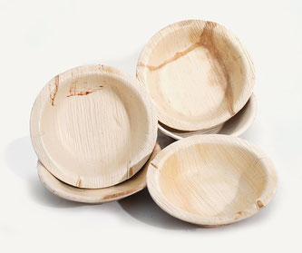 Teller Holz Palm Leaf