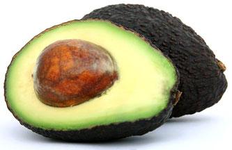 Avokado aufgeschnitten