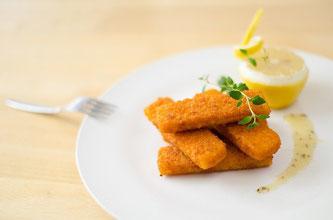 Fischstäbchen Teller essen