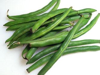 Grüne Bohnen Gemüse frisch