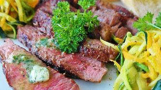 Grillen Fleisch Gemüse Essen